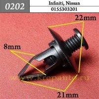 0155303201  - Автокрепеж для Infiniti, Nissan